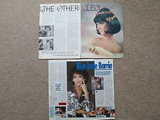 """Amanda Barrie - Two magazine articles - 1960s and 1980s. """" Carry on Cleo """""""