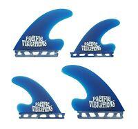 PACIFIC VIBRATIONS J Drive quad Futures SURFBOARD FIN SET NEW 4 FINS color Blue