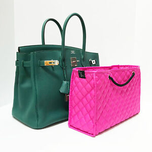 ZOE Quilted Organizer Pink Handbag Insert & Base - Large 12″W x 8″H x 4″D