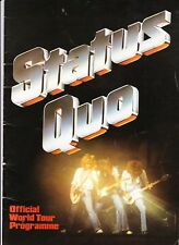 STATUS QUO 1979 CONCERT PROGRAMME AND TICKET CITY HALL NEWCASTLE 17th MAY 1979