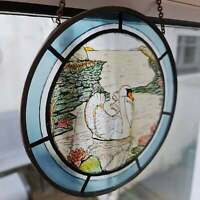 Vintage Stained Glass Wall/Window Hanging