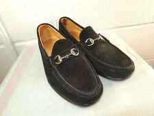 7bbe2be83cf ALDEN Cape Cod Black Soft Suede Horse Bit Loafer Men Size 10D Made In USA