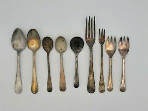 Vintage Silver Plate Silverware Mixed Lot Sheffield Avon Hamilton Beach Smooth