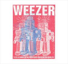 WEEZER PHILADELPHIA AREA (BETHLEHEM) 2013  POSTER S/N BY ARTIST ROBOTS SIGNED