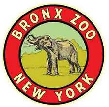 Bronx Zoo  New York   NYC   Vintage Looking Travel Decal Luggage Label Sticker