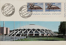 #SPORT: ROMA- GIOCHI OLIMPICI- CART. MAXIMUM CON L.150- PALAZZETTO SPORT