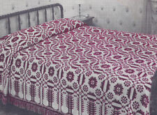 Vintage Crochet Pattern Puritan Maiden Motif Bedspread