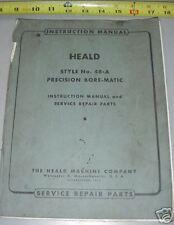 Heald #48-A Bore Matic Precision Boring Machine Manual