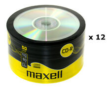 12 x MAXELL CD-R Cased Recordable Blank CDs PC Laptop Computer 50 Pack