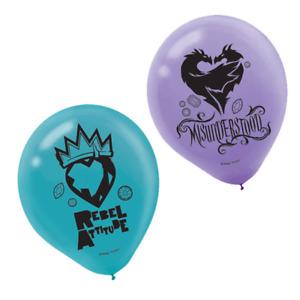 Disney Descendants Latex Balloons, 6 Pack