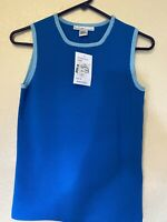 The Works Saks Fifth Avenue Womens Size M Top-Blouse Blue RN 100149
