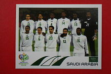 PANINI FIFA WORLD CUP GERMANY 2006 06 N. 588 SAUDI ARABIA TEAM  MINT!!!