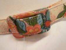 Belt vintage cloth skinny 60s small medium peach floral oranges mod cute