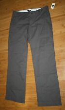 NWT Gap Womens Grey 100% Cotton Straight Leg Trousers Slacks Size 8 Work