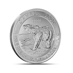 2020 Canada Polar Bear $2 1/2 oz .9999 Silver