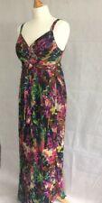 Next Maxi Dress Floral Full Length Size 10 Strappy Summer Sun Holiday Cruise