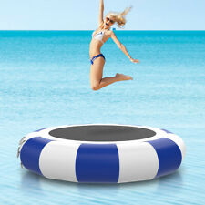 10'PVC Inflatable Water Trampoline Swim Platform for Water Sports Safety Jumping