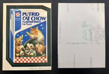1973 Rare Topps Wacky Packages Original 2nd Series BLACK LUDLOW Putrid Chow !
