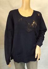 ULLA POPKEN  Studio Untold  XL Toller Pullover  dunkelblau- langarm  Spitze