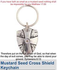 Shield of Faith Jewelry Man Boys GIrl Women Mustard Seed Charm Key Chain