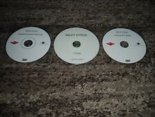 """Miley cyrus very rare lot of 3 dvd single promo france """"7 things"""""""