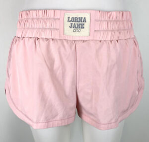 Lorna Jane Womens Athletic Running Shorts Lined Zip Pocket Pink size S?