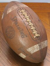 Vintage Spalding 364 Johnny Unitas Official Size & Weight Leather Football Read