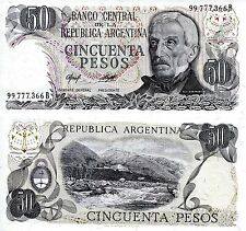 ARGENTINA 50 Pesos Banknote World Paper Money UNC Currency Pick p301b Note Bill