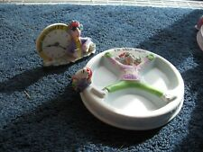Hallmark-Maxine-2 items-ceramic dish (Snow Angel)-Clock-