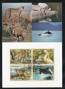 UNITED NATIONS GENEVA FIRST DAY COVER 2000 ENDANGERED SPECIES ON MAXI CARD