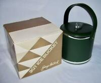 Georges Briard ~ Early Hunter Green 3 Qt. ICE BUCKET w/Mallard Duck Finial + Box