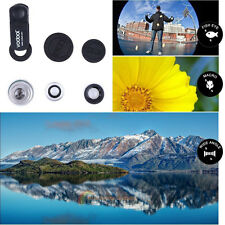 3in1 Wide Angle+Fish Eye+Macro Clip On Camera Len Kit Fit Universal Phone Mobile