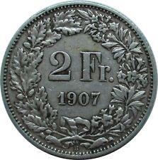 Schweiz 2 Franken 1907 B , Stehende Helvetia
