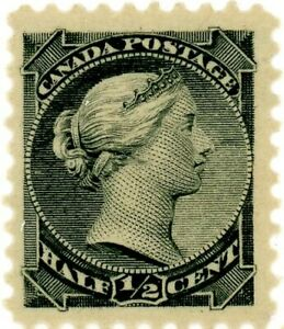 Canada Stamp #34 - Queen Victoria (1882) ½¢ Mint, NH, VF