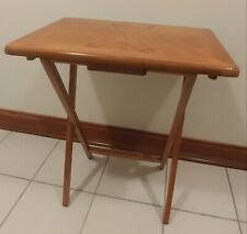 Snack Table Set of 4 with Stand - Oak