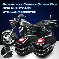 24L Moto Boîte Sac Valise Sacoche Latérale Lampe CLE Suspendre Pour Harley Moto