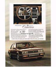 1981 Cadillac Cimarron Brown 4-door Sedan Vtg Print Ad