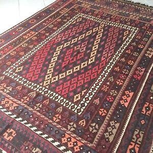Kelim Teppich Alte Original Afghan Uzbeki Turkmen Maimana Carpet Alfombra Tapis