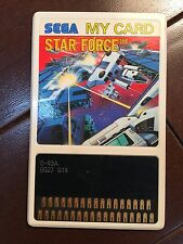 STAR FORCE  SEGA MY CARD  SEGA MASTER SYSTEM SG 1000 SC 3000 JAPAN MARK 3
