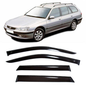 For Peugeot 406 Wagon 1995-00 Window Visors Side Sun Rain Guard Vent Deflectors