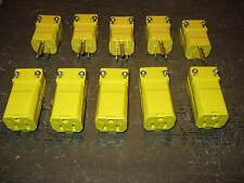 """"""" New """" 10 Lot Hubbell Plug Ends/Connectors Male HBL5965VY & Female HBL5969VY"""