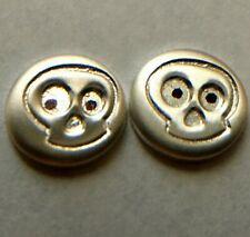 (2) .65 Gram Halloween Ghosts .999 Solid Fine Solid Silver Bullion Bu!