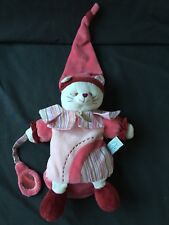 DOUDOU ET COMPAGNIE Pussy Cat Kitten Pink Hand Puppet Soft Cuddly Toy Plush