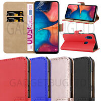 CASE FOR SAMSUNG GALAXY A20E REAL GENUINE LEATHER SHOCKPROOF WALLET FLIP COVER