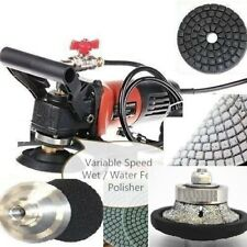 "New listing Travertine concrete wet polisher grinder 1"" router bit 33 granite polish pad"