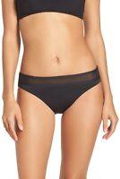Tommy Bahama 145741 Womens Mesh Bikini Bottom Swimwear Black Size X-Small