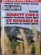 L'AUTO JOURNAL N°18 (15 oct 1979) Renault 18 - Sunbeam Lotus - Opel Kadett 1,3 S