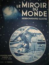 AVIATION AMY JOHNSON CHINE MYSTERIEUSE CHATEAU VERSAILLES  MIROIR DU MONDE 1930