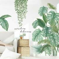 Tropical Leaves Green Plant Wall Sticker Vinyl Decal Home Dormitory Art Decor