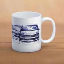 VW TRANSPORTER ceramic MUG volkswagen MUG  T2 / T3 / T4 / T5 / T6 history mug